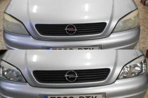 Antes y después faros de Opel en Sirauto Alicante