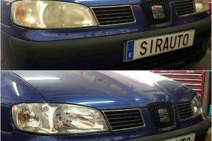Antes y después del pulido de Seat en Sirauto Elche