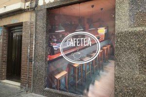 Rotulación cafetería CAFETEA