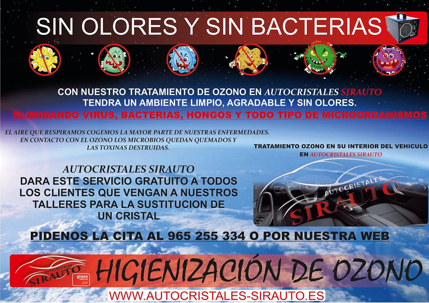 higienización de ozono con agentes de seguros