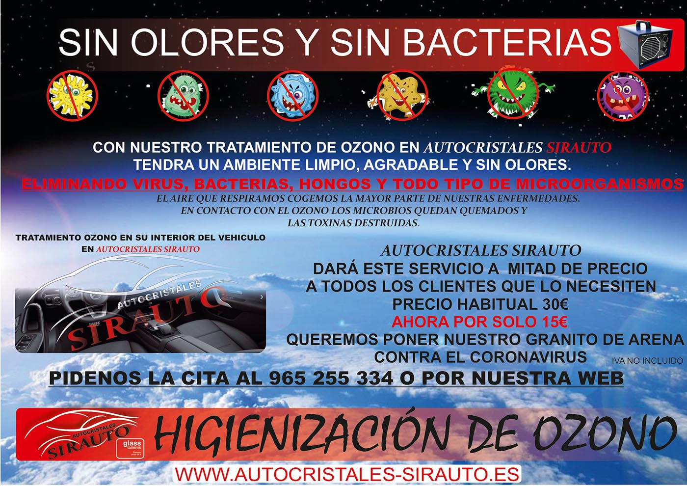 clientes precio ozono higienización